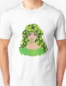 Girl with floral hair 2 Unisex T-Shirt