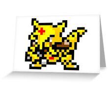 Pokemon 8-Bit Pixel Kadabra 064 Greeting Card