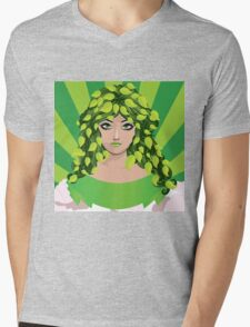 Girl with floral hair 4 Mens V-Neck T-Shirt