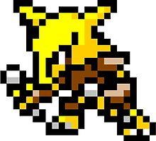 Pokemon 8-Bit Pixel Alakazam 065 by slr06002