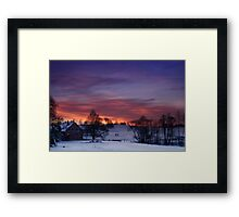 Farmstead in the evening Framed Print