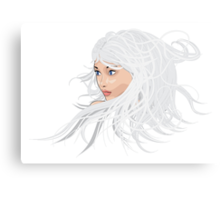 White hair girl 2 Canvas Print