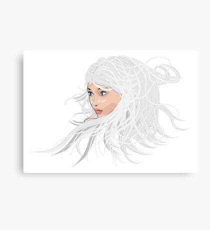 White hair girl 2 Canvas Print