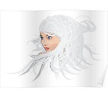White hair girl 2 Poster