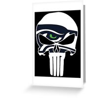 Seattle Seahawks Punisher Skull Greeting Card