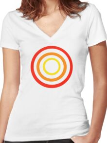 Colored circles Women's Fitted V-Neck T-Shirt