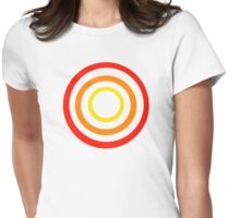 Colored circles Womens Fitted T-Shirt