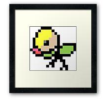 Pokemon 8-Bit Pixel Bellsprout 069 Framed Print