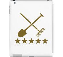 Shovel rake stars iPad Case/Skin