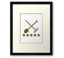 Shovel rake stars Framed Print
