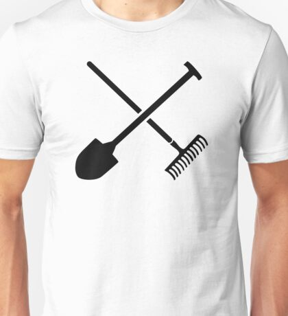 Black shovel rake Unisex T-Shirt
