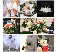 Wedding collage Photographic Print