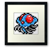 Pokemon 8-Bit Pixel Tentacruel 073 Framed Print