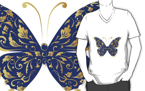 Butterfly, ornate by Kudryashka