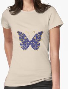 Butterfly, ornate Womens Fitted T-Shirt