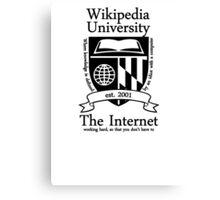 Wikipedia University Canvas Print