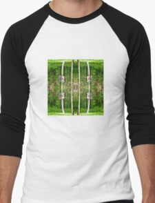 Basketball Forest Court Reflection 2 Men's Baseball ¾ T-Shirt