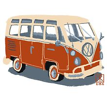 VW Bus by Kristen Rimmel