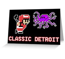 Classic Detroit Greeting Card