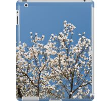 White Magnolia blossoms bunch iPad Case/Skin