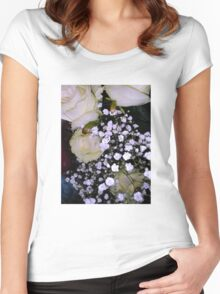 Bouquet of White roses 3 Women's Fitted Scoop T-Shirt