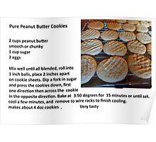 Peanut Butter Cookies & Recipe Poster