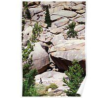 Huge Wyoming Rocks Poster