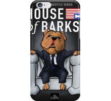 House of Barks bulldog cartoon iPhone Case/Skin