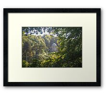 Temple Through the Trees Framed Print