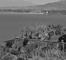 Agropoli: landscape with sea and tower Sticker