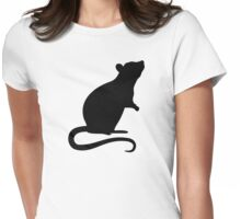 Rat mouse Womens Fitted T-Shirt