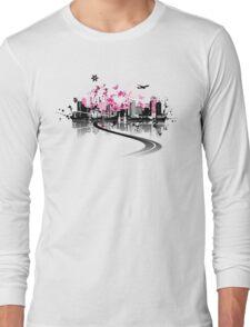 Cityscape background, urban art Long Sleeve T-Shirt