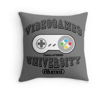 Videogames university Throw Pillow