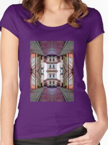 Cozy Old Town Art Women's Fitted Scoop T-Shirt