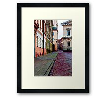 Cozy Old Town Framed Print
