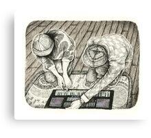 Keyboard Love Canvas Print