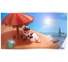 Olaf at the sea Poster