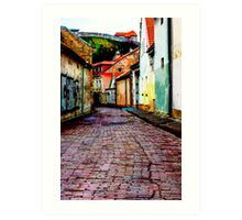 Old Town Stories Art Print