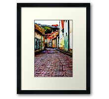 Old Town Stories Framed Print