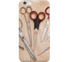 scissors bunch lying on board iPhone Case/Skin