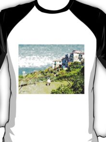 Agropoli: landscape with sea and tower T-Shirt