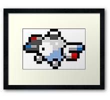 Pokemon 8-Bit Pixel Magnemite 081 Framed Print