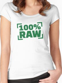 100% Raw food Women's Fitted Scoop T-Shirt