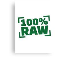 100% Raw food Canvas Print