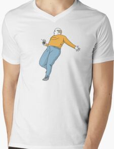 Starbucks Guy be Trippin Mens V-Neck T-Shirt