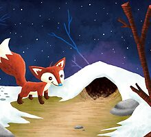 Fox in the snow by Jeff Crowther