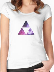 Legend Of Zelda - Triforce Space Women's Fitted Scoop T-Shirt
