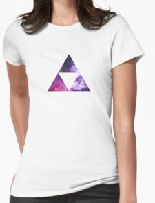 Legend Of Zelda - Triforce Space Womens Fitted T-Shirt