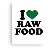 I love raw food Canvas Print