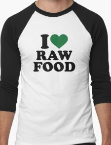 I love raw food Men's Baseball ¾ T-Shirt